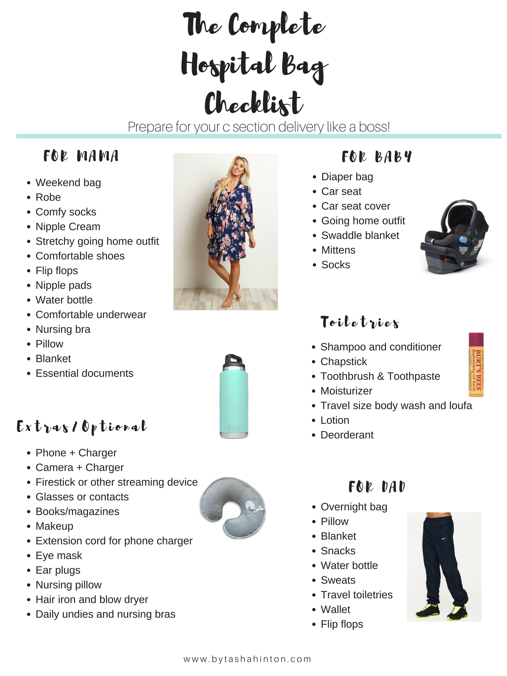 Complete Hospital Bag Checklist For C Section Delivery