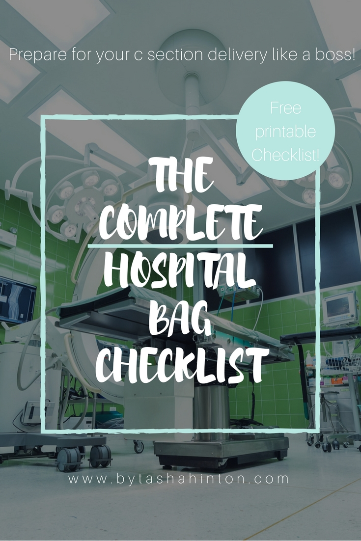 The Complete Hospital Bag Checklist For C Section Delivery Free